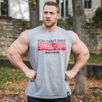 "Shirt ""Can't Fake Strength"" ärmellos"